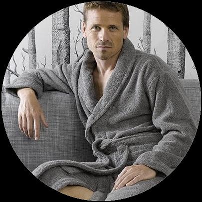 Velours en badstof badjas